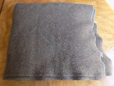 Vintage LL Bean Wool Throw Blanket Grey / Brown Speckled Twin Size Cursive Label