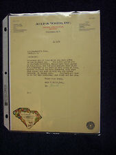 AULD & WHITE 1929 LETTERHEAD COLUMBIA S.C. FOOD BROKERS CANNED GOOD FRUIT