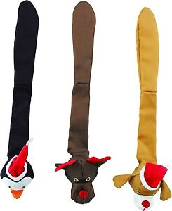Lot Of 3 Spot Skinneeez Holiday Durable 23 Inch Dog Toy Reindeer Penguin Moose