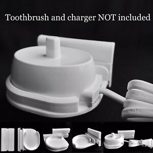 Adhesive Stick-on Wall Mount Stand Bracket Fits Braun Oral B Toothbrush Charger