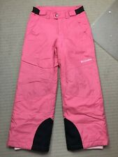 Columbia Ski Pants - Kids - Girls -  Size 7/8 - Pink - Snow - Snowboard - (2)