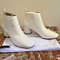 MARC JACOBS WHITE PATENT LEATHER 'Rocket' CHELSEA BOOTS LAST PAIR! BNIB!