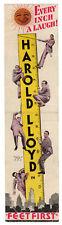HAROLD LLOYD - Vintage 1930 Film Classic - FEET FIRST - Rare Comedy MOVIE HERALD