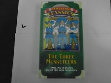 THE THREE MUSKETEERS TIMELESS CLASSICS ANIMATED VHS NEW  773233060119