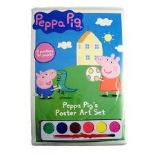 PEPPA PIG 8 hojas de para colorear con acuarelas+cepillo pequeño idea