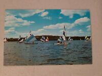 Vintage Postcard - Vermont - Sailing On One of New Englands Lakes Un-Posted #837