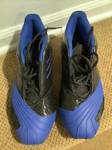 Adidas TMAC 1 Sz 10 Black & Royal Blue NIB