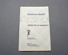 New old stock SWIZA warranty booklet 60/70s blank NOS garantía NOS 1