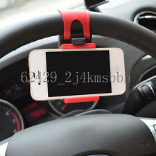 "Car Mount Holster Clip On Steering Wheel iPhone 4.7"" Samsung HTC LG Phone Holder"
