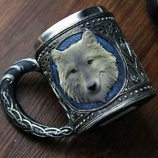 450ML Wolf Drinking Mug Resin Stainless Steel Lining Retro Coffee Beer Wine Cup