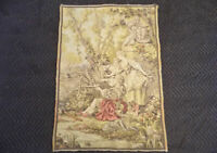 "French Aubusson style Wall Tapestry Verdure Landscape w Cherub 27"" x 38"" romance"