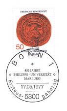 BRD 1977: Universität Marburg Nr 939 mit Bonner Ersttags-Sonderstempel! 1A! 1708