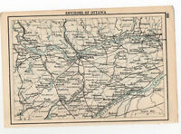 Map Of Environs Of ottawa Canada Antique