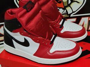 Jordan 1 Retro High Satin Snake Chicago (W) CD0461-601 Red Black White Size 7.5W