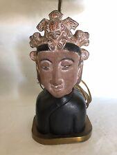 Rare Vintage Large Buddha? Head Lamp Bakelite Finial