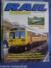 RAIL ENTHUSIAST AUGUST 1985 1986 WESTERN INTERCITY MR WAGSTAFF YORK WORKS CREWE