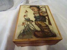 Hummel Spieldose Musik Box aus Holz Schweizer Werk Die Forelle