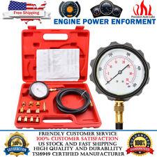 500PSI Auto Engine Oil Pressure Tester Gauge Diagnostic Tester Tool Kit w/ Case
