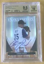 2011 Panini Prospects Autograph Card #P-37 Chris Reed Beckett 9.5 Gem Mint
