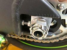Kawasaki ZX10R Ninja 2011-20 REAR AXLE CASTLE FLANGED NUT TITANIUM M24X1.5 TR47