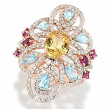 Meher's Jewelry 5.84ct Yellow Beryl & Multi Gemstone Flower Ring Sold Out $350