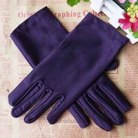 9 Colors Women Lady Evening Party Wedding Formal Prom Stretch Satin Gloves Women