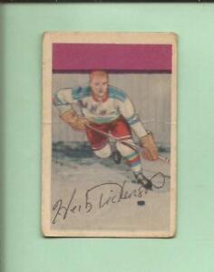 1952-53  PARKHURST   # 57   HERB DICKINSON   Rookie   New York Rangers   G-VG
