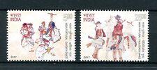 India 2017 MNH Traditional Dance Pauliteiros Dandiya JIS Portugal 2v Set Stamps