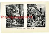 Rural Scene (1), Birket Foster, Book Illustration (Print), 1934