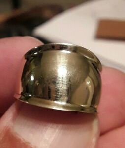 """10k Yellow Gold 1/2"""" in Wide Cigar Band Ring Sz 7 - Free Shipping !"""