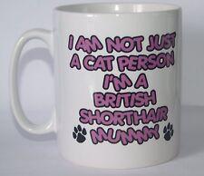 Pas seulement un chat personne que je suis un britannique poil momie imprimé tasse-cadeau