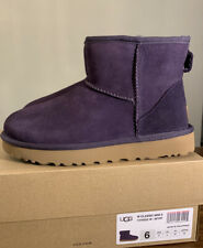 UGG CLASSIC MINI II MIDNIGHT PURPLE 1016222 SZ 6, WOMAN'S BOOTS EXCLUSIVE COLOR