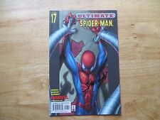 2002 ULTIMATE SPIDER-MAN # 17 MARY JANE & DOC OCK SIGNED MARK BAGLEY WITH POA