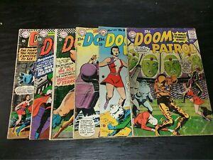1964 DC COMICS LOT OF 6 DOOM PATROL #91-109 LOWER-GRADE SILVER AGE VINTAGE KEY