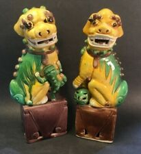 New ListingAntique Chinese Rare Pair of Foo Dogs & One has a Cat, the other a Ball c.1880