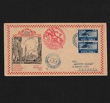 OPC 1946 Rivnione Filatelica Primaverile Veneziana X2 Perfin RFPV46 addressed