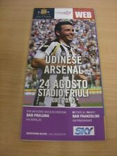 24/08/2011 Udinese v Arsenal [Champions League] (Colour Udine/Web Issue). (Any n