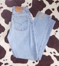 VTG 90's Levi's 550 sz 11 Jr High Waisted Mom Jeans Light Blue Denim Tapered