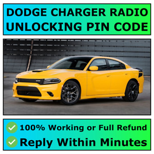 DODGE CHARGER RADIO UNLOCKING PIN CODE DECODE ALL MODELS AVAILABLE | FAST ✅