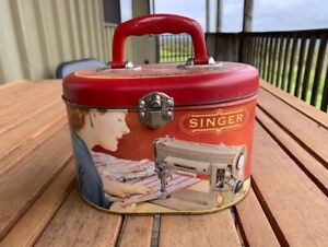 Replica Singer Sewing Tin Box Caddy