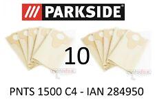 10 Parkside Staubsaugerbeutel 30 L PNTS 1500 C4 Lidl IAN 284950 braun 906-02
