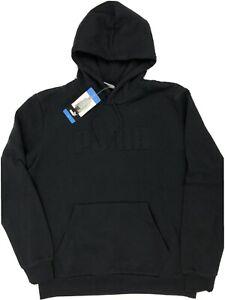 Puma Men's Embossed Logo Classic Fleece Hoodie Sweatshirt Pullover Black