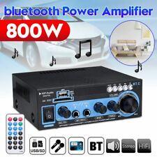 800W Digital Stereo Amplifier bluetooth Audio Tuner USB SD FM Aux Mic Car  Home