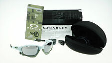 NEW OAKLEY RACING JACKET GP75 Matte Blue Ice Black Iridium Sunglasses OO 9171-13