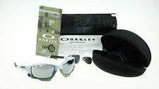 NEW OAKLEY RACING JACKET GP75 Matte Blue Ice Black Iridium Sunglasses OO 9171-13