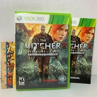 The Witcher 2 Xbox 360 Game Assassins Of Kings Enhanced Edition Complete CIB