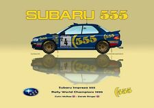 Greetings card Subaru Impreza 555 1995 #4 McRae / Ringer WC Version 4