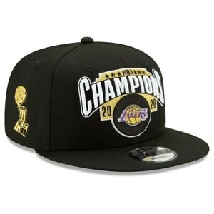 Los Angeles Lakers New Era 2020 NBA Finals Champions Locker Room 9Fifty Hat Cap