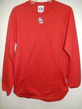 0325 Boys Youth Majestic St Louis Cardinals Baseball Jersey Fleece New Red Xl