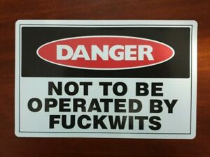 Danger not to be operated by (funny) stickers x10